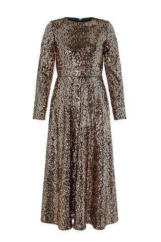 6e5bc09474 Buy Monsoon Gold Saturn Sequin Midi Dress from Next Ireland