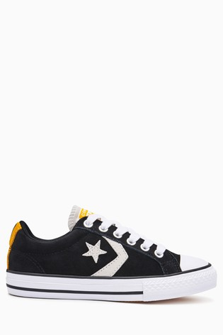 Buy Converse Black Yellow Starplayer from Next Slovakia 8ff7ad86fff