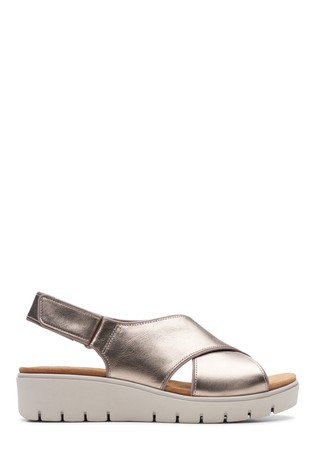 Buy Clarks Wide Fit Gold Un Karely Sun