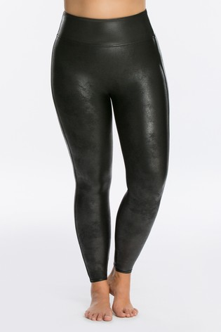 official store discount shop convenience goods SPANX® Curve Medium Control Faux Leather Structured Leggings