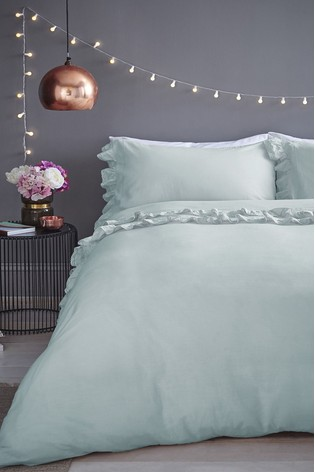 Buy Maison Exclusive To Next Stone Wash Ruffle Cotton Duvet Cover And Pillowcase Set From The Next Uk Online Shop