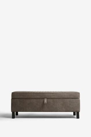 Pleasant Bernie Monza Faux Leather Ottoman Dailytribune Chair Design For Home Dailytribuneorg