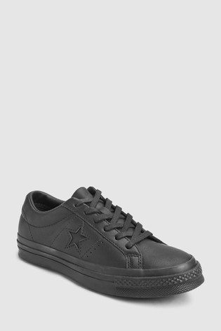 350f15cde4dc Buy Converse Black Black Leather One Star from Next Singapore
