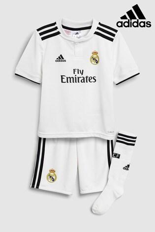 6b70532604f Buy adidas Real Madrid 2018 19 Mini Kit from Next Ireland
