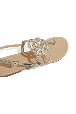 3d25486958e0 Buy Oasis Gold Tilly Toepost Sandal from Next Ireland