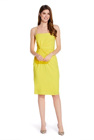 d98957eb9cbb Buy Adrianna Papell Yellow Wrap Detail Jersey Sheath Dress from Next ...