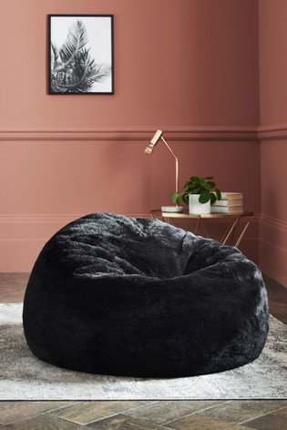 Remarkable Faux Fur Bean Bag Squirreltailoven Fun Painted Chair Ideas Images Squirreltailovenorg