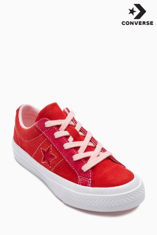 Buy Converse Red Suede One Star from Next Ireland f2725d9241b0
