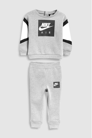 f6423ecc2 Buy Nike Air Little Kids Grey Tracksuit from the Next UK online shop