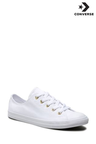 91c3bd83ad88 Buy Converse White Gold Stud Dainty from Next Ireland