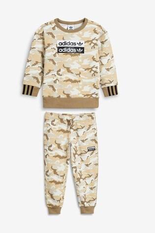 new specials best place discount sale adidas Originals Little Kids Camo Crew And Joggers Set