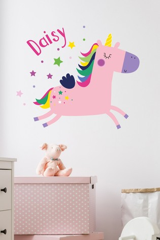 buy personalised unicorn wall sticker by loveabode from the next uk