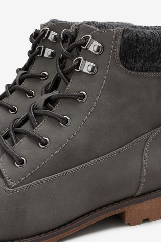 528436867b2c9 Buy Knit Detail Lace Up Boots from the Next UK online shop
