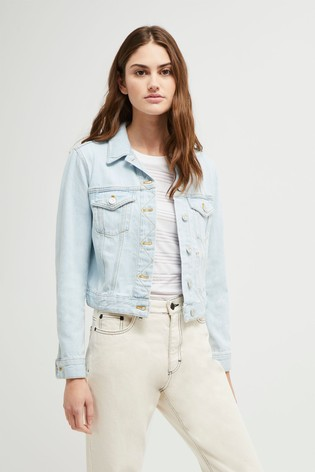 professional website latest discount affordable price French Connection Blue Macee Micro Western Denim Jacket