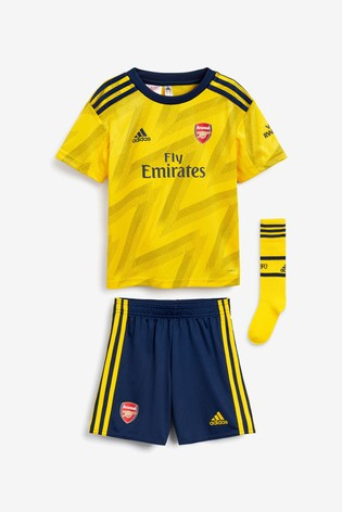 check out e69f4 b3b96 adidas Little Kids' Arsenal Yellow Away 19/20 Mini Kit