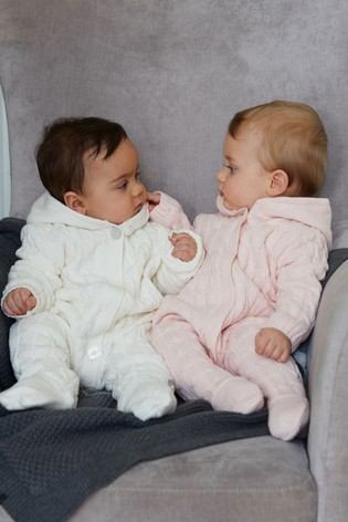 073d294dc101 Buy The Little Tailor Pink Baby Knitted Pramsuit from Next Malta