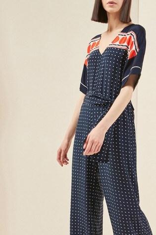 2e7a1e7a417 Buy Next Mix Silk Spot Print Fluid Jumpsuit from the Next UK online shop