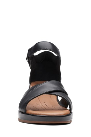 5d0105344414 Buy Clarks Wide Fit Black Un Plaza Cross Sandal from the Next UK ...