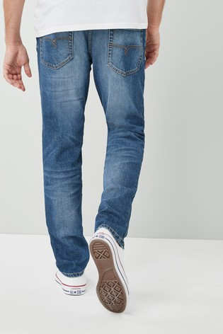 Mid Blue Slim Fit The Bottle Jean