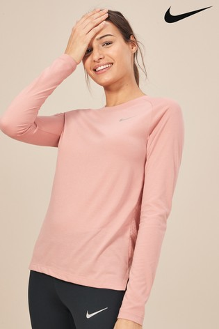 67b52811f Buy Nike Tailwind Pink Running Top from the Next UK online shop