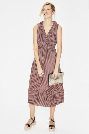 fd5ba517c2 Buy Boden Pink Nancy Linen Midi Dress from the Next UK online shop