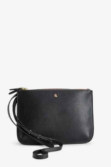 Alin hinta niin halpa ostaa nyt Ralph Lauren Black Vegan Leather Carter Cross Body Bag