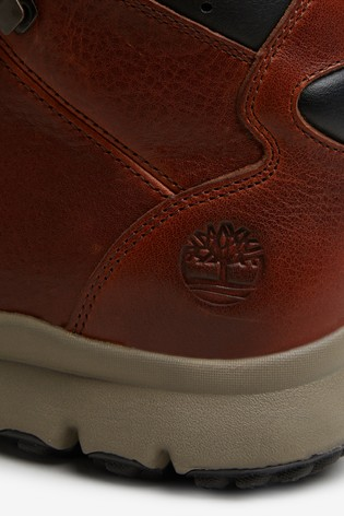 Timberland® Mens Brown Leather World Hiker Boots