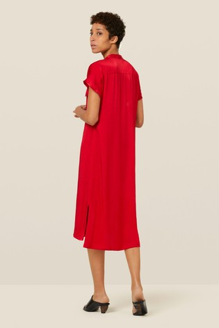 c0bdce5f895 Buy Finery London Red Macie Satin Tunic Dress from the Next UK ...