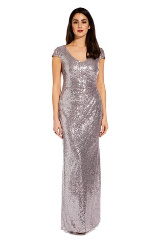 77956532 Buy Adrianna Papell Grey AP Plus Cap Sleeve Sequin Dress from Next USA