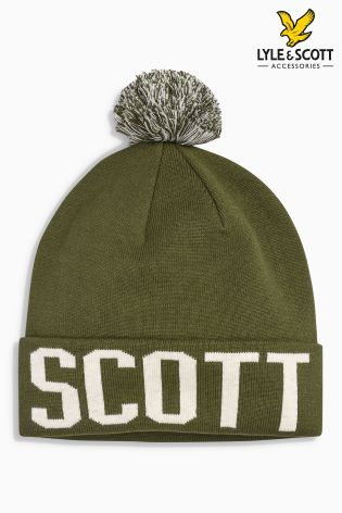 1320b59801a Buy Lyle   Scott Logo Bobble Hat from Next Ireland