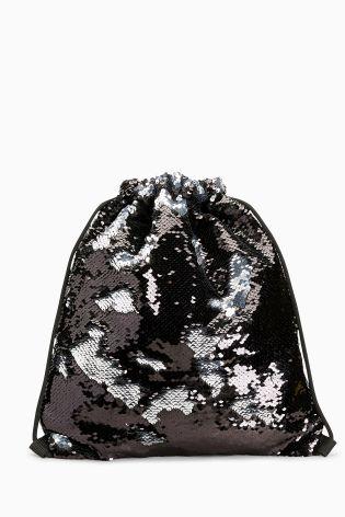 Black Sequin Rucksack
