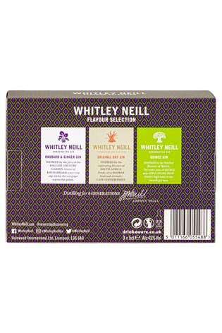 Set Of 3 Tasting Gin Gift Set By Whitley Neill by Next