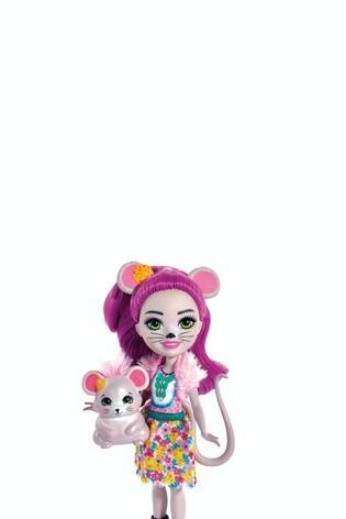 Enchantimals FXM76 Mayla Mouse Doll /& Fondue Figure