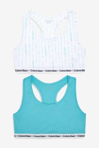 9d1cabce8a596c Buy Calvin Klein Girls Modern Cotton Bralettes Two Pack from Next ...