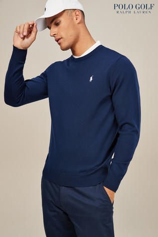 Buy Polo Golf by Ralph Lauren French Navy Crew Neck Sweater from the ... 7fcbdf0c2