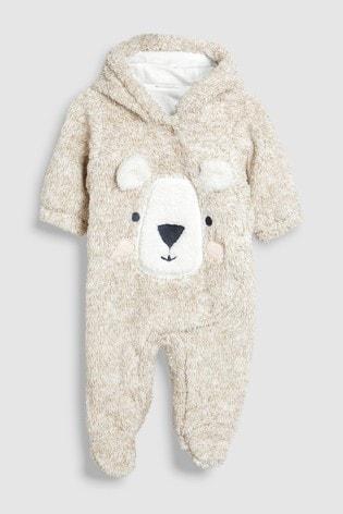 66385e27e Buy Bear Fleece Pramsuit (0-18mths) from the Next UK online shop
