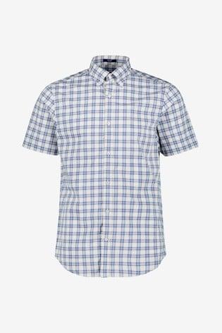 new concept 1aab0 bdfff GANT Mens Tech Prep Broadcloth Plaid Short Sleeve Shirt
