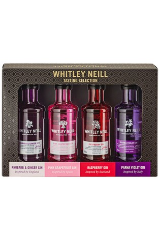 Set Of 4 Tasting Gin Gift Set By Whitley Neill by Next