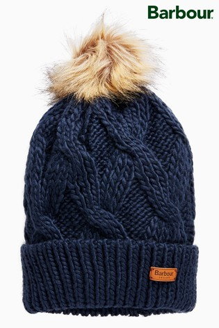 Buy Barbour® Navy Ashridge Beanie from the Next UK online shop 8e3ad4938d9a