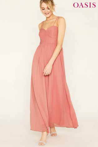 8c13333b4daa Buy Oasis Pink Lucy Chiffon Pleated Bow Back Maxi Dress from Next ...