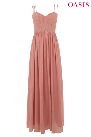 7da39412292c Buy Oasis Pink Lucy Chiffon Pleated Bow Back Maxi Dress from Next Ireland