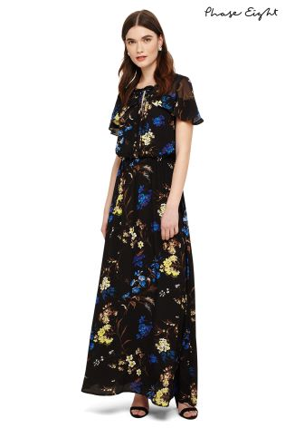 Buy Phase Eight Black Multi Manoela Floral Maxi Dress From Next Ireland