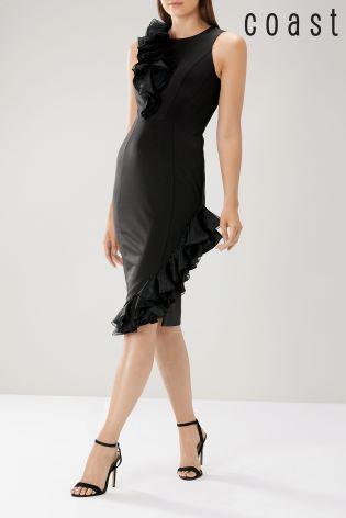 Buy Coast Black Rosalie Ruffle Shift Dress From Next Ireland