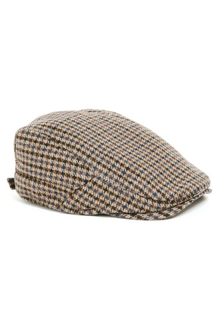 4cece5d91 Brown Dogtooth Flat Cap
