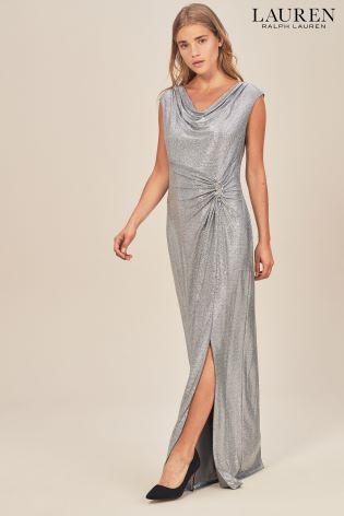 647b0da6be3 Buy Lauren Ralph Lauren® Shawnia Silver Glistening Maxi Dress from ...