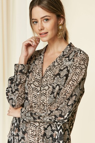 21e5c4043f31a Buy Wallis Petite Snake Blouse from the Next UK online shop