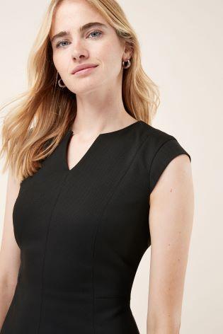 02d2c3de27 ... Black Panelled Workwear Dress  Black Panelled Workwear Dress. Next
