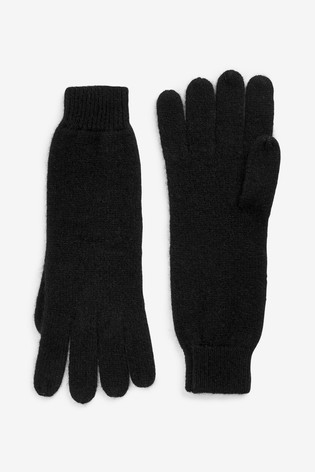 finest selection 0663b 25e34 Black Cashmere Gloves
