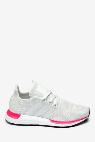 c03ee6f691b28 Buy adidas Originals White/Pink Swift Youth Trainers from Next Slovakia