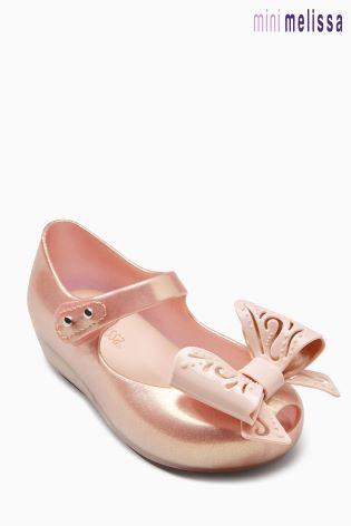363807337c961 Buy Mini Melissa Rose Gold Ultragirl Fairy Bow Pump from Next Hong Kong